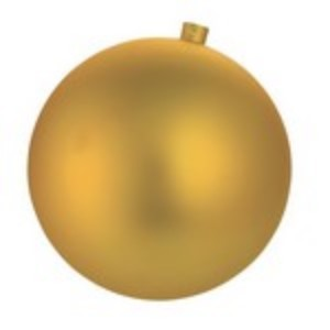 250mm 10' Gold Matte Ball Ornament with Wire and UV Coating