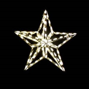 2' 3-D Star Tree Topper Lit with Warm White LED Lights