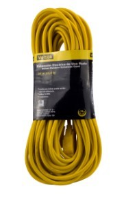 65' Heavy Duty Yellow 16/3 Extension Cord